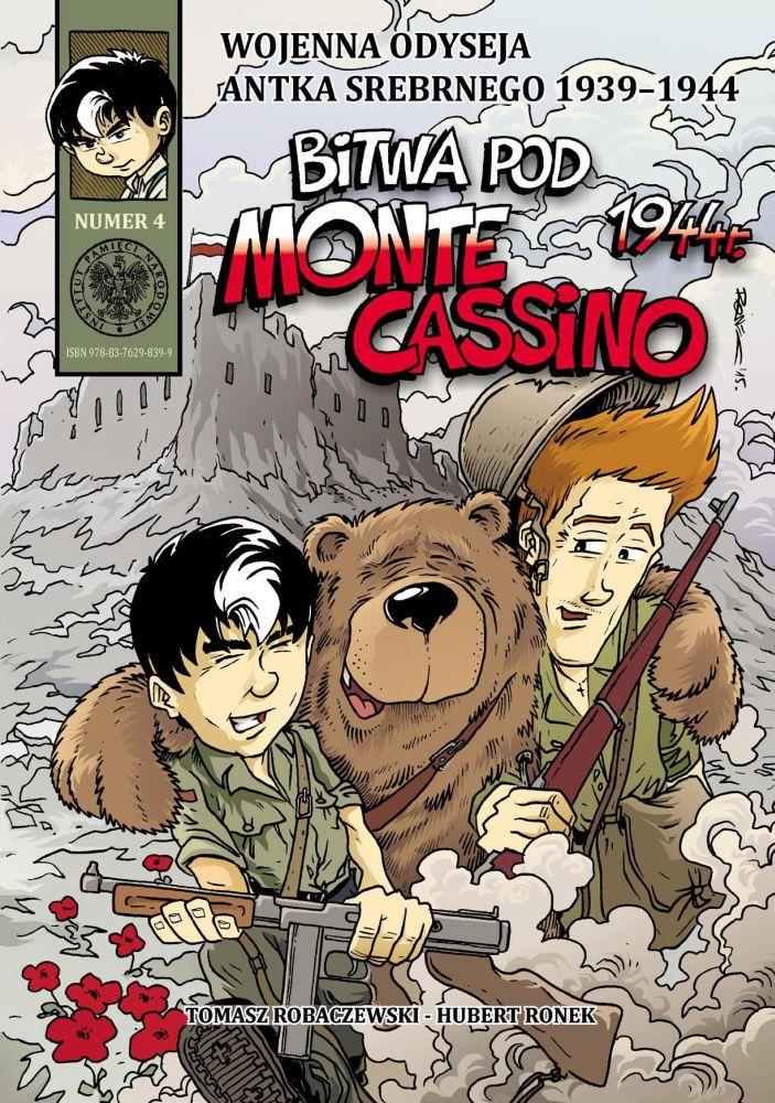 Bitwa pod Monte Cassino 1944 r. Wojenna odyseja Antka Srebrnego T.4 (T.Robaczewski H.Ronek)