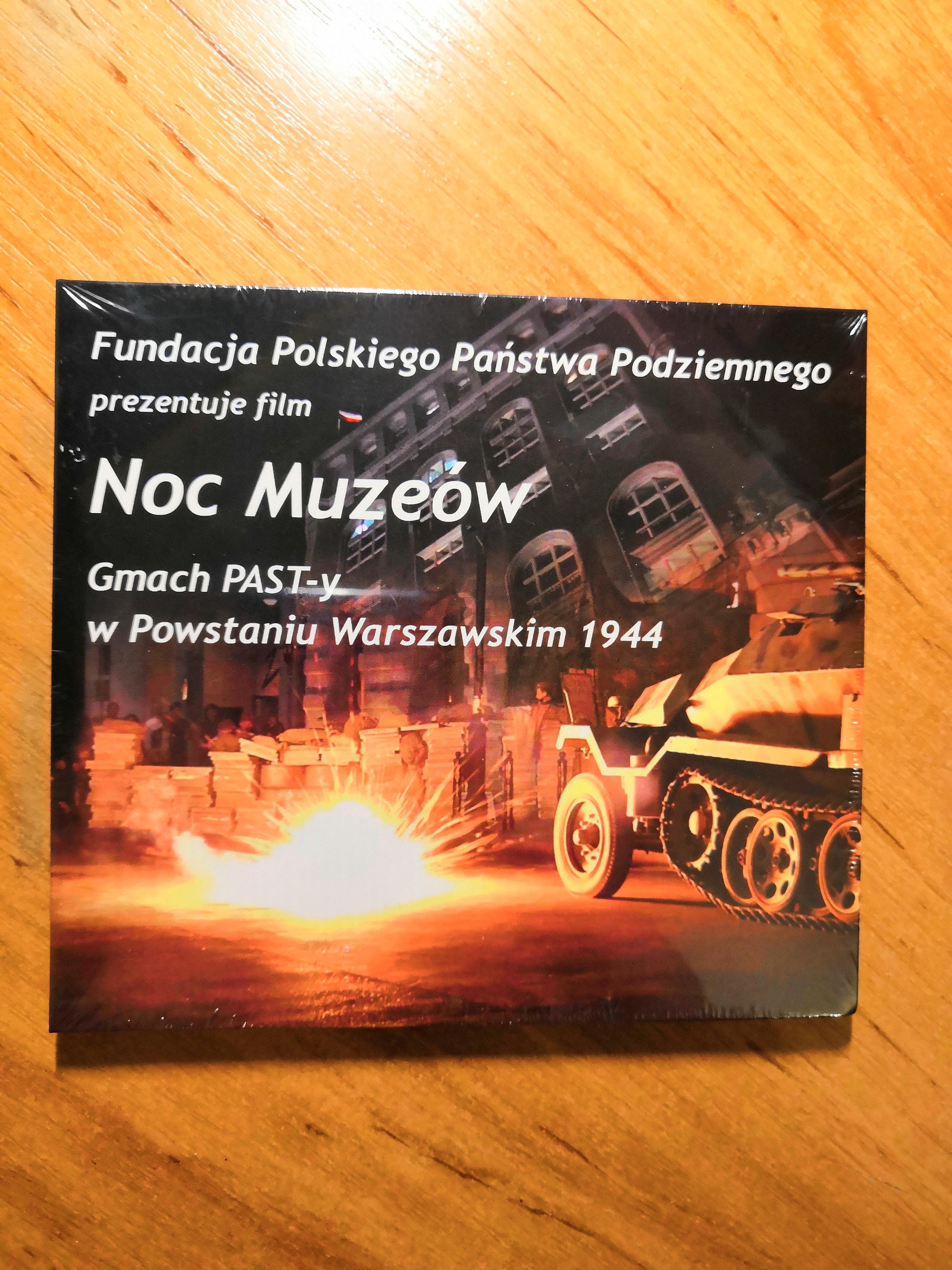 Noc Muzeów Gmach PAST-y w Powstaniu Warszawskim 1944 Rekonstrukcja DVD (M.Wiśnicka)